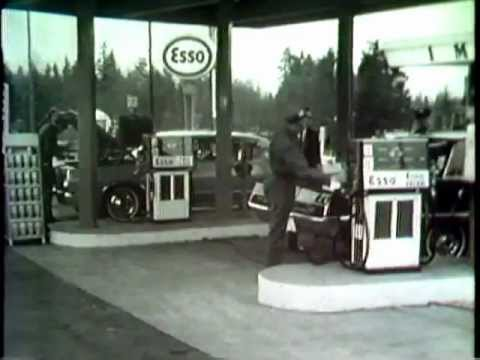 Price breakdown of gas in BC (Vancouver). -- 1967.  -- Imperial Oil Esso television commercial.