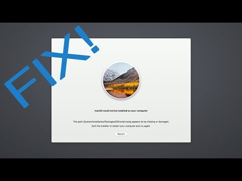 Fix MacOS Update Error