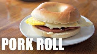 PORK ROLL Jersey Breakfast Recipe - Around the World Breakfast