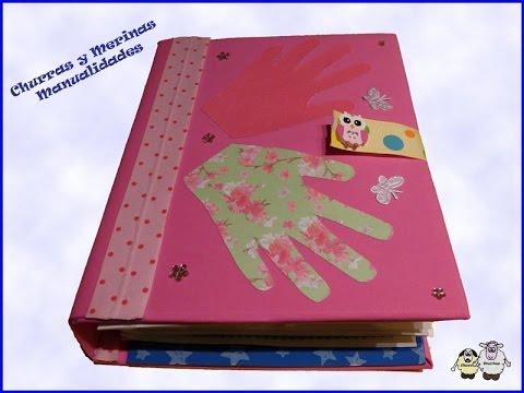 Libro texturas scrapbooking para ni os diy youtube - Como hacer un libro hueco ...