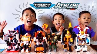 Bermain 6 Tobot X Y V Zango Rocky Ambulun | Mainan Anak Mobil Robot | Tobot Bahasa Indonesia