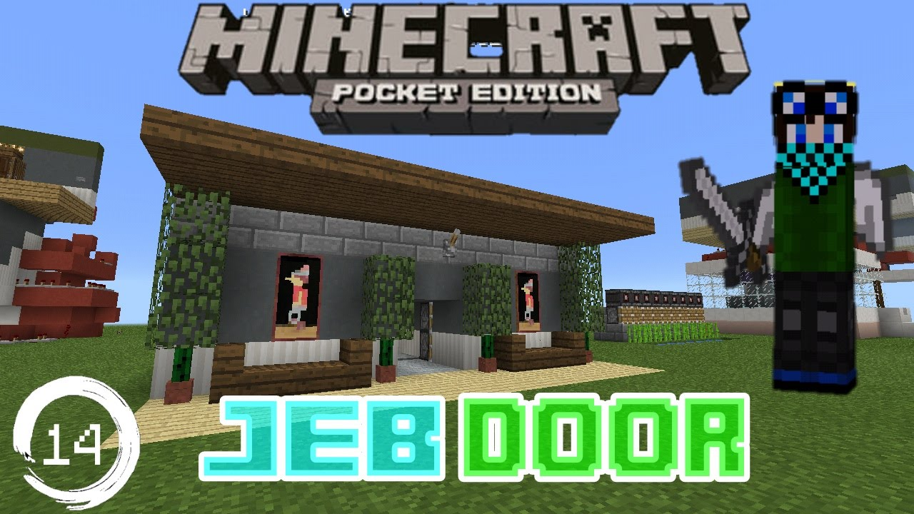 Minecraft Pe Redstone Tutorial How To Make A Jeb Door In Mcpe
