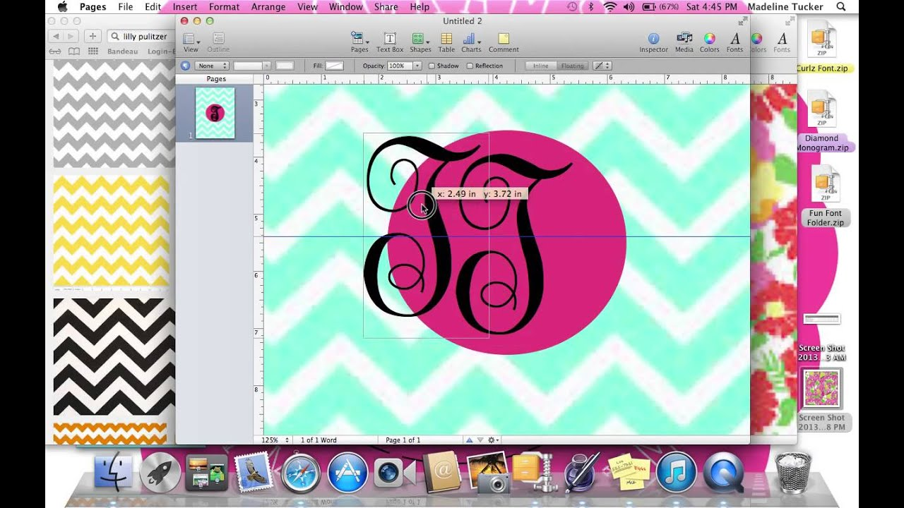 how to make a monogrammed binder cover youtube