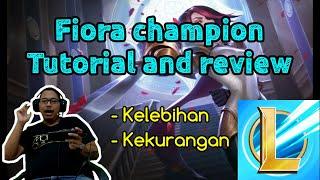 Tutorial champion Fiora fighter, Build item Fiora League of Legends Wild Rift, LoL Wild Rift