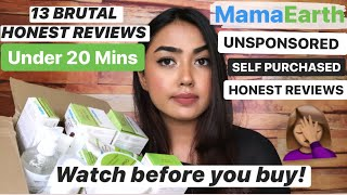 13 MAMAEARTH PRODUCT REVIEWS UNDER 20 MINS | BRUTALLY HONEST NON SPONSORED MAMAEARTH PRODUCT REVIEWS