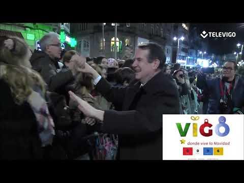 Así fue el encendido de las luces de Navidad en Vigo