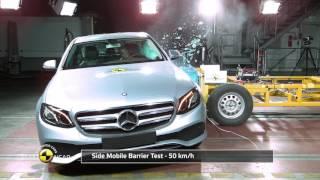 """""""فيديو"""" شاهد اختبار تصادم مرسيدس E كلاس 2016 Mercedes-Benz E-Class"""