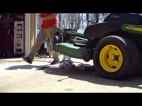 """HOW FAST TO SHARPEN 3 LAWN MOWER BLADES IN 4 MINUTES the """"NASCAR WAY"""" * JOHN DEERE Z-TRAC"""