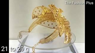 Latest Stylish Gold Bracelet Designs with WEIGHT