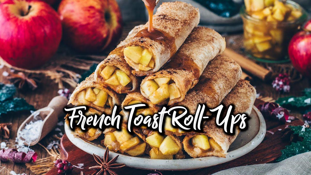 French Toast Roll-Ups mit Apfel-Zimt-Füllung (vegan) * Rezept