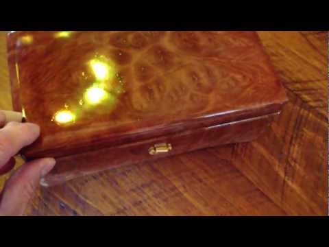 Custom Music Box Exotic Red Mallee Burl W Sankyo 72 Note Canon In D