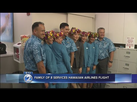 Hawaiian Airlines 'ohana' flight features three generations of flight attendants