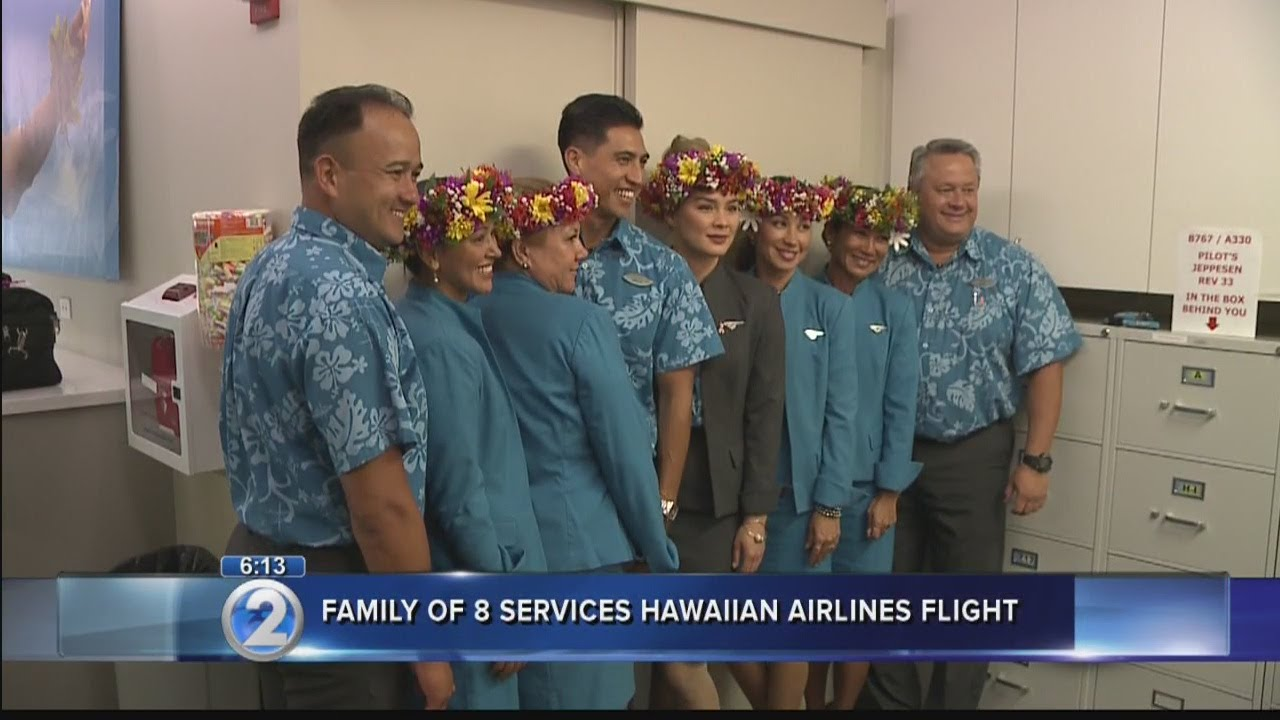 Hawaiian Airlines Ohana Flight Features Three Generations Of Attendants