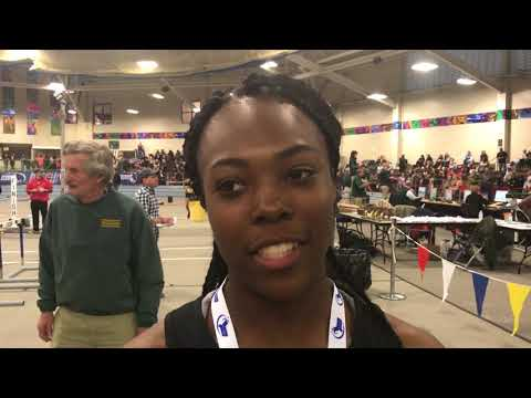 Kyla Hill Springfield HS MIAA 2018 Division 1 Indoor Track & Field  55 Meter Girls Champion