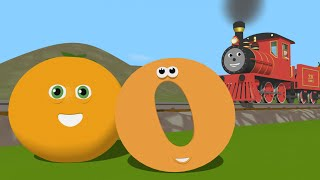 Learn about the Letter O - The Alphabet Adventure With Alice And Shawn The Train