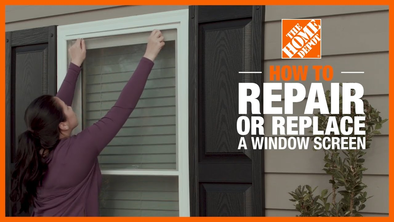 How To Repair Or Replace Screens The Home Depot