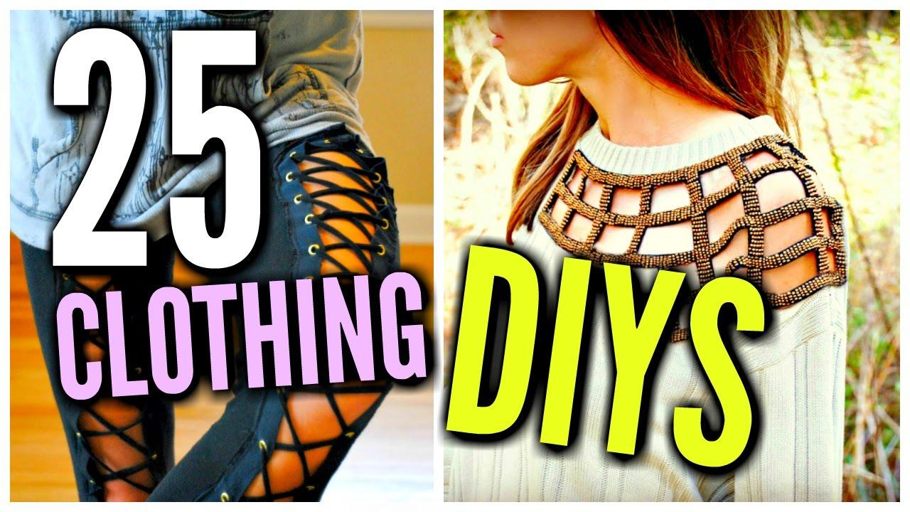 1fdac6cb3 DIY Clothes Life Hacks! 25 DIY Ideas For Clothing   Fashion - YouTube