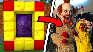 Minecraft HOW TO MAKE A PORTAL TO THE SCARY GEORGIE DIMENSION / PENNYWISE MOD !! Minecraft Mods