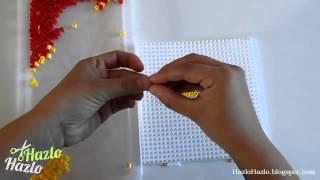 vuclip Bandera de España con hama beads.