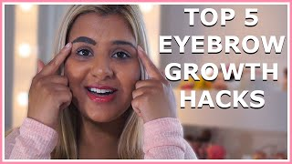 Top 5 Home Remedies For Growing Your Eyebrows!