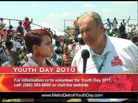 Former Ms. Michigan Keisha Allen Interviews Ed Deeb at Youth Day 2010