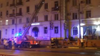 Пожар в Самаре - ул. Максима Горького (ресторан Жемчужина)