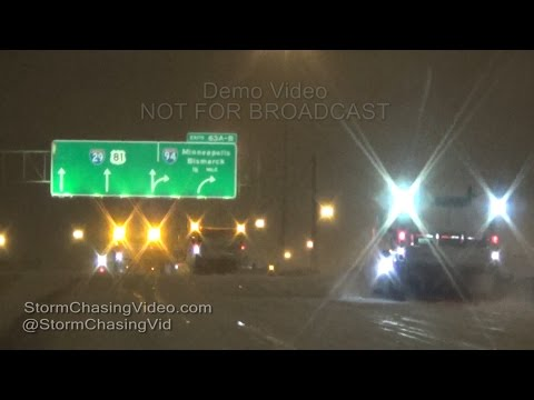 Fargo, ND Winter Storm - 12/16/2015 Early Morning