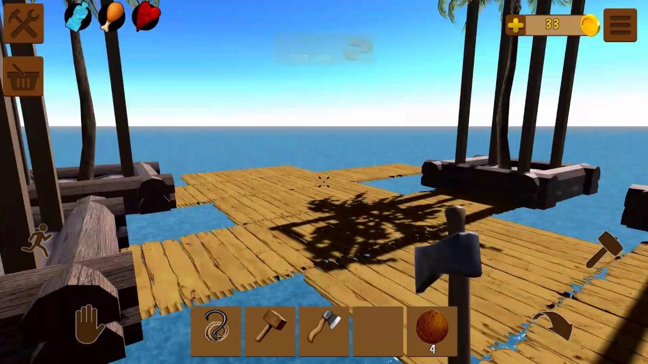 Oceanborn: Raft Survival на Android Посадка пальм)