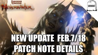 Neverwinter New Update Feb 7-18 Patch Note Details
