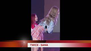 Gambar cover TWICE SANA check skirt 一个女孩