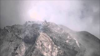 The active lava dome of Sinabung volcano (27 July 2015)
