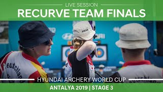 Live Session: Recurve team finals |Antalya 2019 World Cup S3 thumbnail