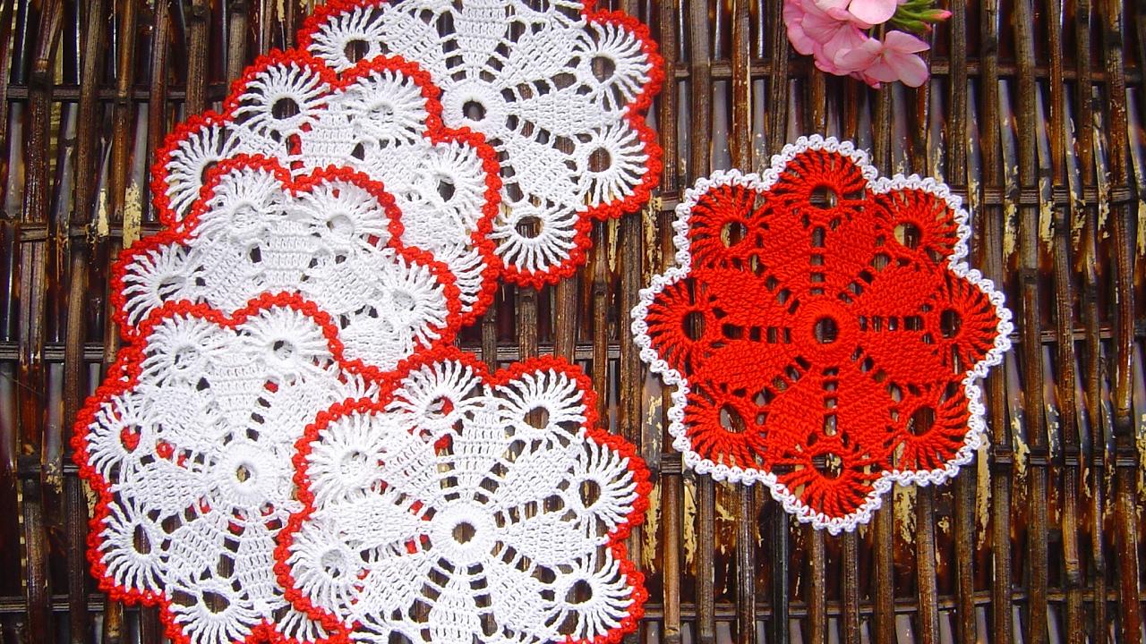 como aprender a tejer carpeta tapete portavasos f cil