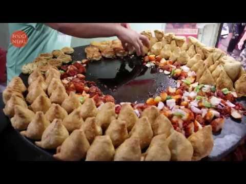 Samosa Chaat Spicy Chat Masala - Delicious Samosa Chaat - Food Nepal