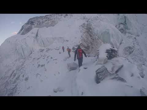 Climbing Island Peak in amazing weather