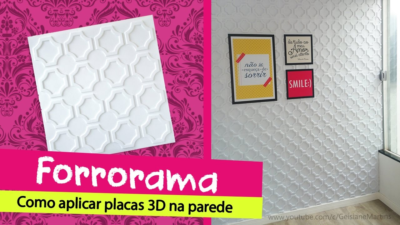 Como instalar forrorama placas 3d youtube for Placas de pvc para paredes