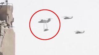 Military Helicopter Transporting  Flying Saucer UFO During Syrian Civil War | Latest Alien Sighting