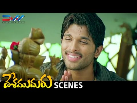 Allu Arjun Funny Prayer   Desamuduru Telugu Movie Scenes   Hansika   Puri Jagannadh