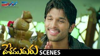Allu Arjun Funny Prayer | Desamuduru Telugu Movie Scenes | Hansika | Puri Jagannadh