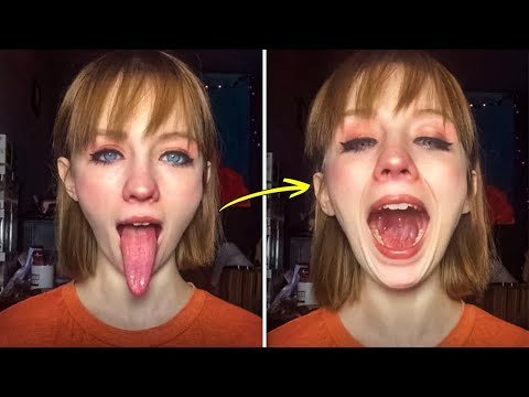 She Literally Swallowed Her Tongue on Camera |