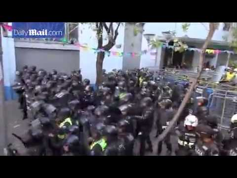 "Ecuador protesters ""fire rockets"" at police over President Rafael Correa dictator Daily Mail"