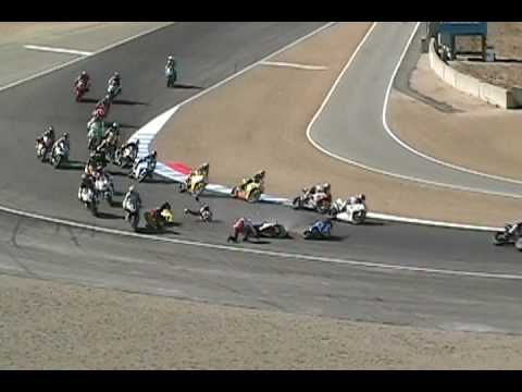 Mazda Raceway Laguna Seca >> Motorcycle Racing Crash - YouTube