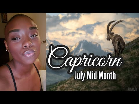 "CAPRICORN♑ MID JULY ""A HURTFUL ENDING BUT REFRESHING NEW BEGINNING."""