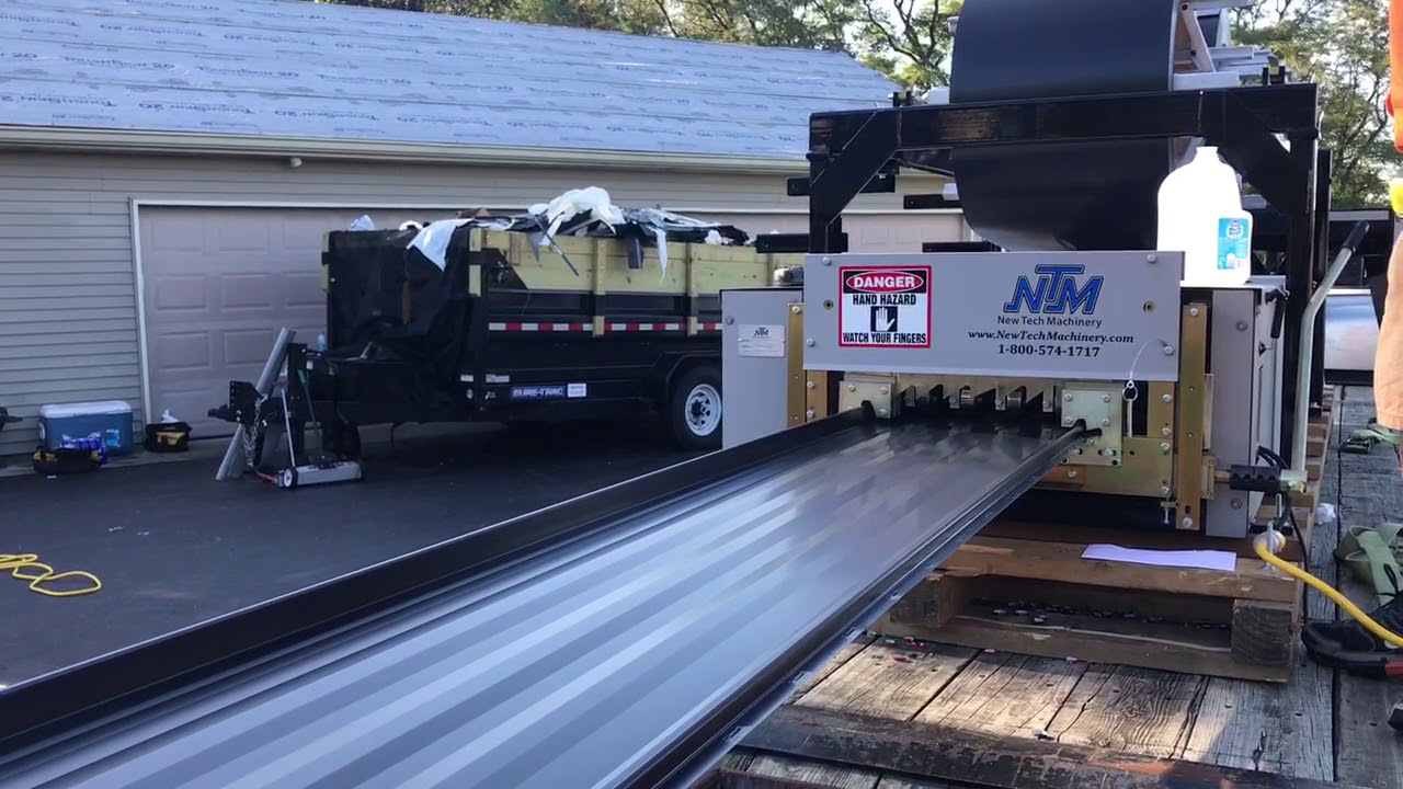 Our Onsite Roll Former In Action!