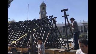 Retiran vallas metálicas ubicadas en las inmediaciones de Segob