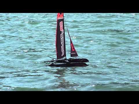 Rc Laser Sailboat With Storm Rig D Sail Doovi