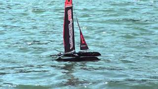 RC cat sailing