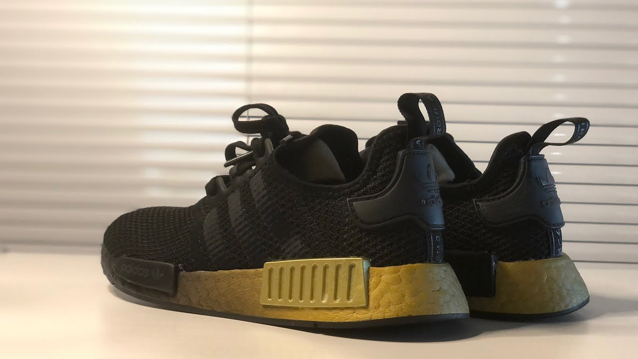 Adidas NMD R1 - black/gold [UNBOXING