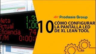 Cómo configurar la pantalla de LED's de XL Lean Tool