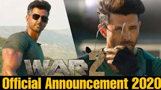 War 2 Official Announcement, Hrithik Roshan, Tiger Shroff, Vani Kapoor, Ashutosh Rana